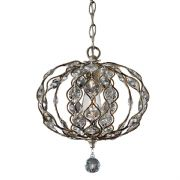 Leila Mini Chandelier in Burnished Silver and Bauhinia Crystal - FEISS FE/LEILA1C